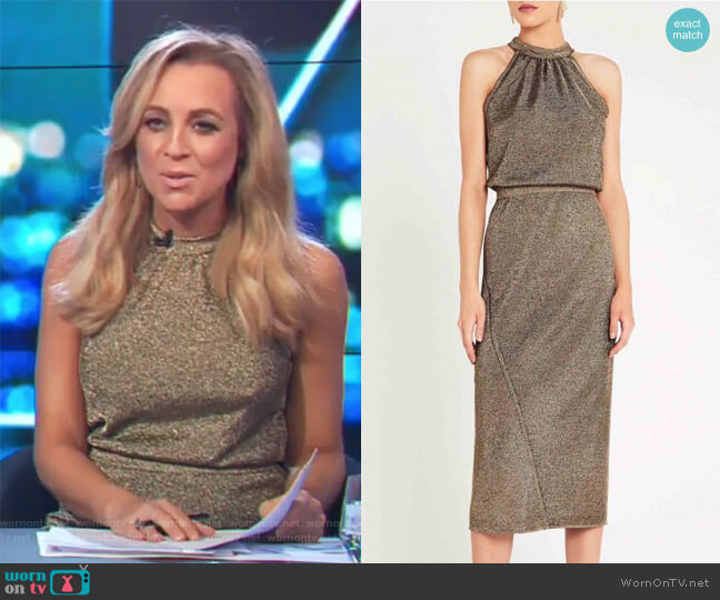 NightBreaker Dress by Sass and Bide worn by Carrie Bickmore on The Project