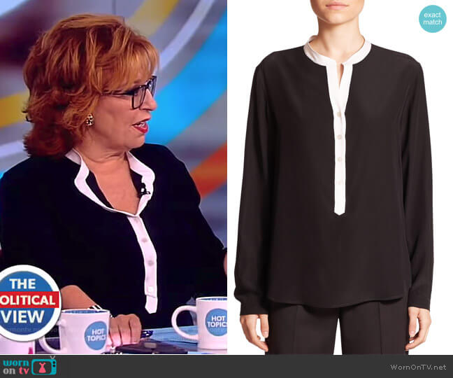 Eva Silk Tuxedo Blouse by Stella McCartney worn by Joy Behar  on The View