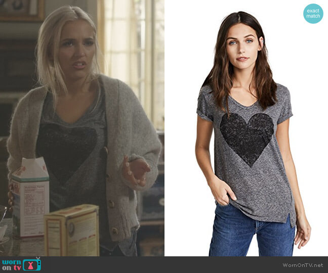 Heart Tee by Sundry worn by Maddie Jaymes (Lennon Stella) on Nashville