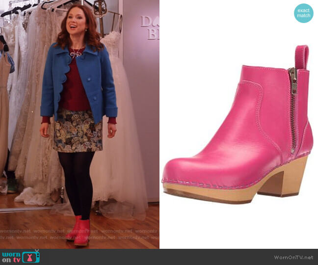 Zip IT Emy Ankle boot by Swedish Hasbeens worn by Ellie Kemper on Unbreakable Kimmy Schmidt