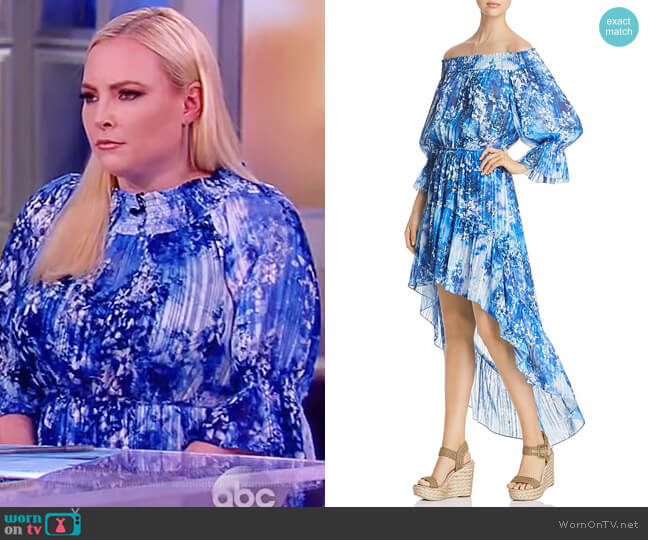 Abrella Off-the-Shoulder Dress by T Tahari worn by Meghan McCain  on The View
