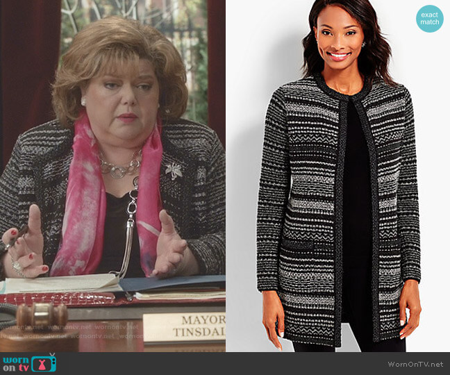 Mixed-Stitch Sparkle Topper by Talbots worn by Martha Tinsdale (Catherine Disher) on Good Witch