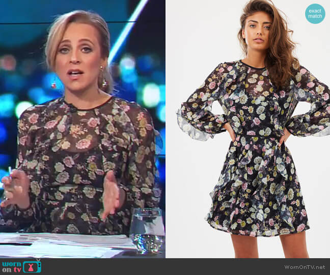 Playful LS Mini Dress by Talulah worn by Carrie Bickmore  on The Project