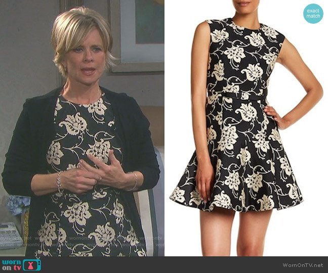 Peplum Hem Floral Embroidered Dress by Ted Baker worn by Mary Beth Evans on Days of our Lives