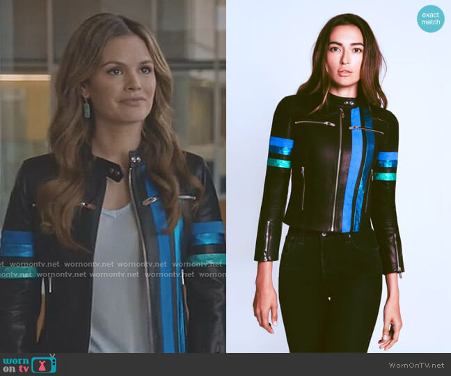'Asti' Racer Jacket by The Mighty Company worn by Rachel Bilson on Take Two