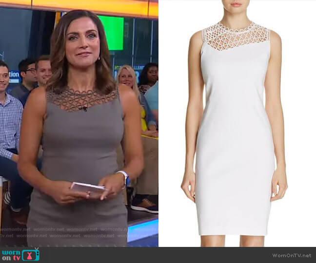 'Tina' Dress by Elie Tahari worn by Paula Faris  on Good Morning America