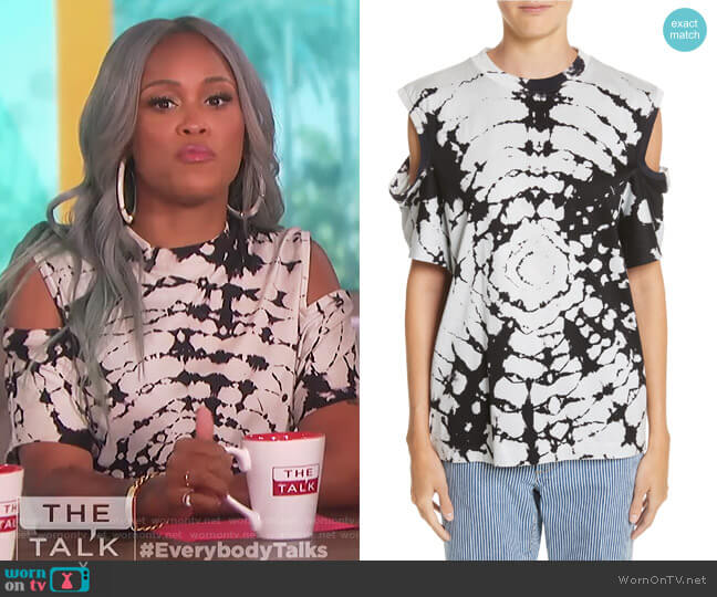 Tie Dye Cold Shoulder Top by Toga worn by Eve  on The Talk
