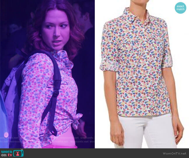 Floral Print Shirt by Tommy Hilfiger  worn by Kimmy Schmidt (Ellie Kemper) on Unbreakable Kimmy Schmidt