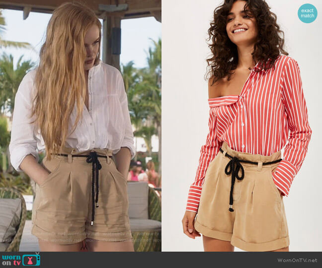 Rope Casual Shorts by Topshop worn by Abigail Cowen on The Fosters