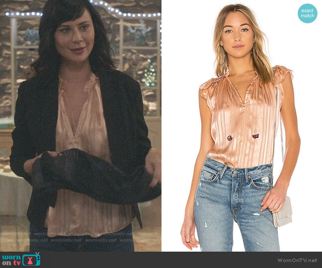 'Deja' Top by Ulla Johnson worn by Cassandra Nightingale (Catherine Bell) on Good Witch