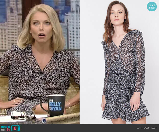 'Dakota' Dress by Veronica Beard worn by Kelly Ripa  on Live with Kelly & Ryan