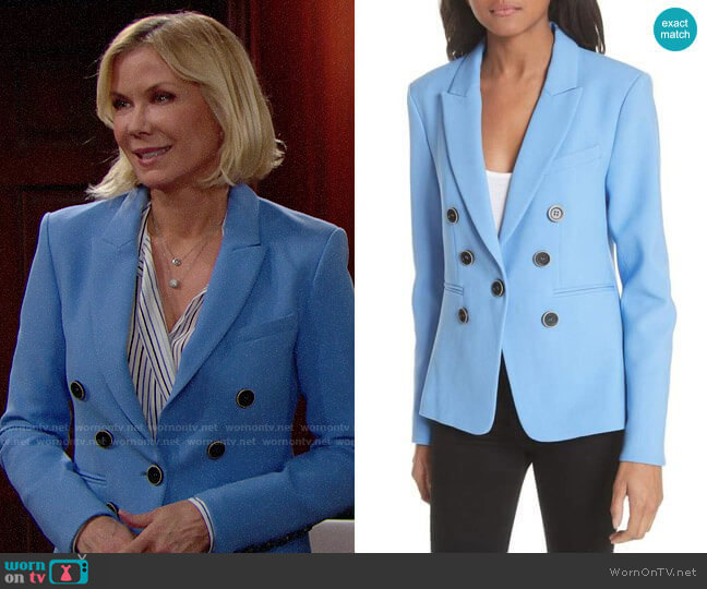 Veronica Beard Colson Blazer worn by Brooke Logan (Katherine Kelly Lang) on The Bold & the Beautiful
