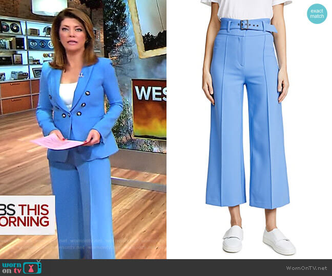 'Lyla' Pants by Veronica Beard worn by Norah O'Donnell on CBS This Morning