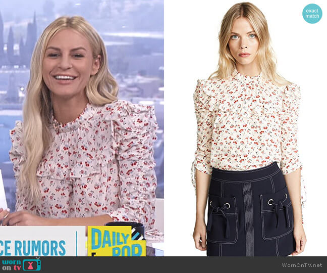 'Howell' Blouse by Veronica Beard worn by Morgan Stewart  on E! News