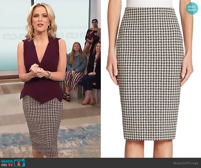 Houndstooth Pencil Skirt by Victoria Beckham worn by Megyn Kelly  on Today
