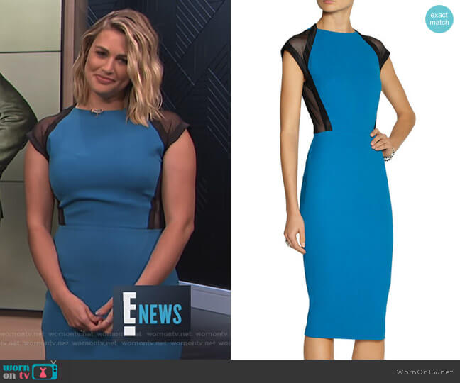 Mesh-Trimmed Dress by Victoria Beckham worn by Carissa Loethen Culiner on E! News