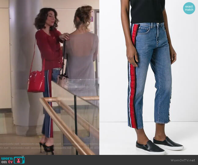 Side Stripe Jeans by Victoria Beckham worn by Delia (Necar Zadegan) on GG2D
