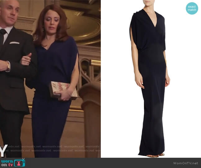 Long Reni stretch-silk chiffon maxi dress by Zero + Maria Cornejo worn by Alanna Ubach on GG2D