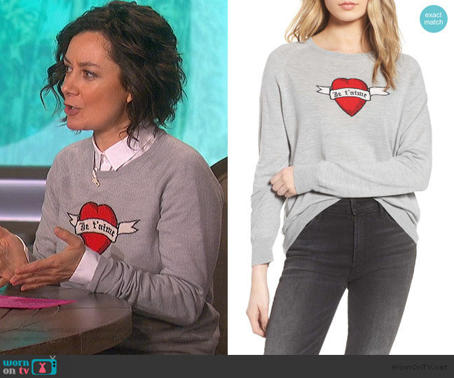 Rime Bis Merino Wool Sweater by Zadig & Voltaire worn by Sara Gilbert  on The Talk