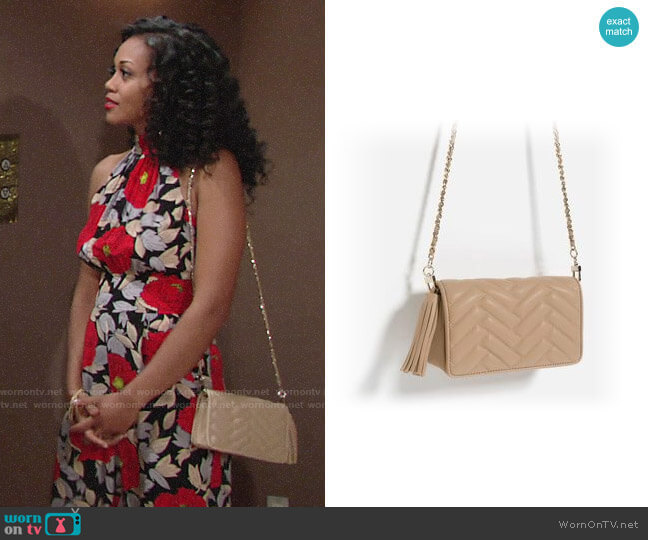 Zara Mini Cross-Body Bag worn by Hilary Curtis (Mishael Morgan) on The Young & the Restless