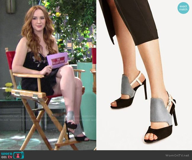 Zara Three Toned High Heeled Sandals worn by Camryn Grimes on The Young & the Restless