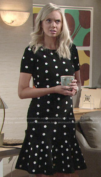 Abby's polka dot dress on The Young and the Restless