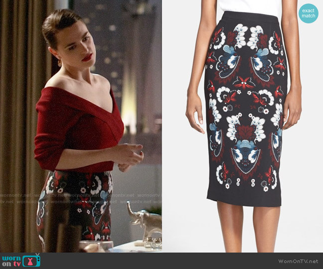 ALC Haley Skirt worn by Lena Luthor (Katie McGrath) on Supergirl