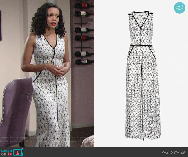 ALC Jesse Dress worn by Mishael Morgan on The Young & the Restless