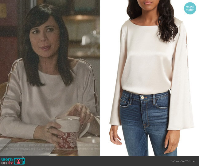 'Genia' Top by Alice + Olivia worn by Cassandra Nightingale (Catherine Bell) on Good Witch
