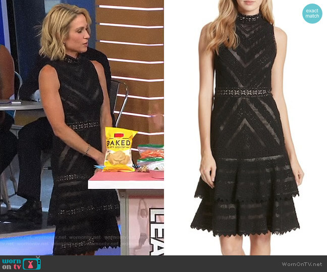 'Azita' Dress by Alice + Olivia worn by Amy Robach  on Good Morning America