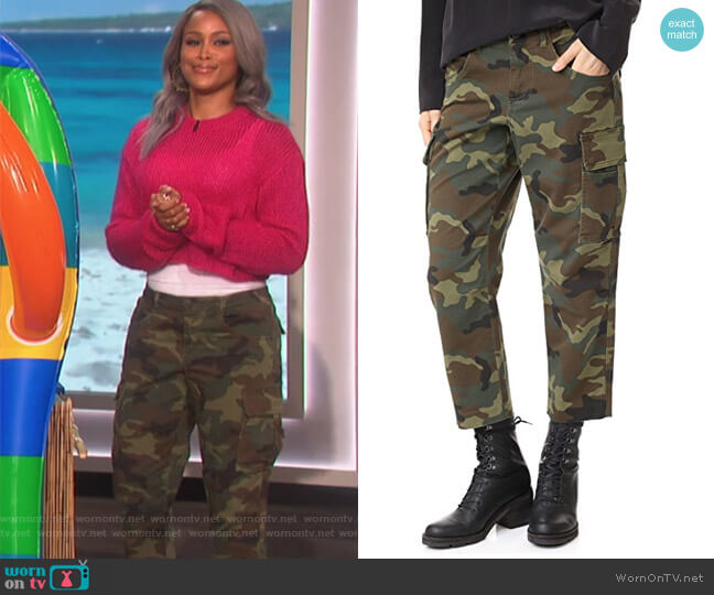 Johnsie Cargo Pants by Alice + Olivia worn by Eve  on The Talk