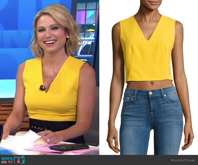 'Lyndsay' Top by Alice + Olivia worn by Amy Robach  on Good Morning America