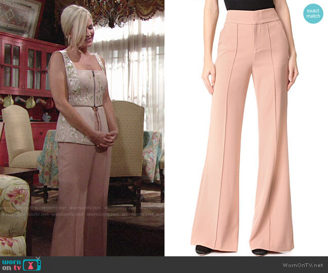 Alice + Olivia Dawn Trousers worn by Sharon Case on The Young & the Restless