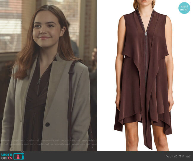 'Jayda' Dress by All Saints worn by Bailee Madison on Good Witch