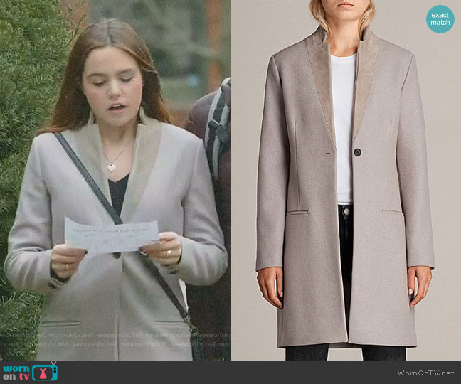 'Leni' Coat by All Saints worn by Bailee Madison on Good Witch