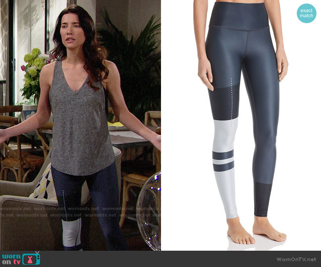 Alo Yoga Airlift High-Waist Leggings worn by Jacqueline MacInnes Wood on The Bold & the Beautiful