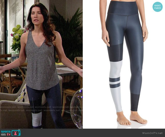 Alo Yoga Airlift High-Waist Leggings worn by Steffy Forrester (Jacqueline MacInnes Wood) on The Bold & the Beautiful