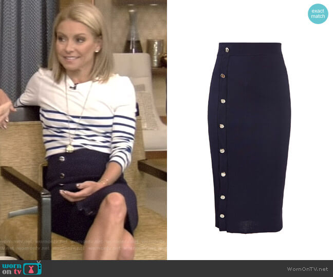 'Enya' Skirt by Altuzarra worn by Kelly Ripa  on Live with Kelly & Ryan