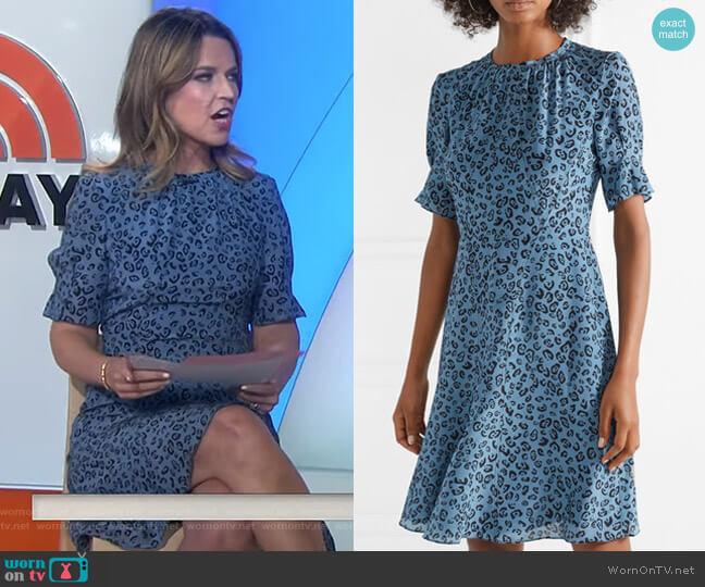 'Jae' Leopard-Print Silk Dress by Altuzarra worn by Savannah Guthrie on Today