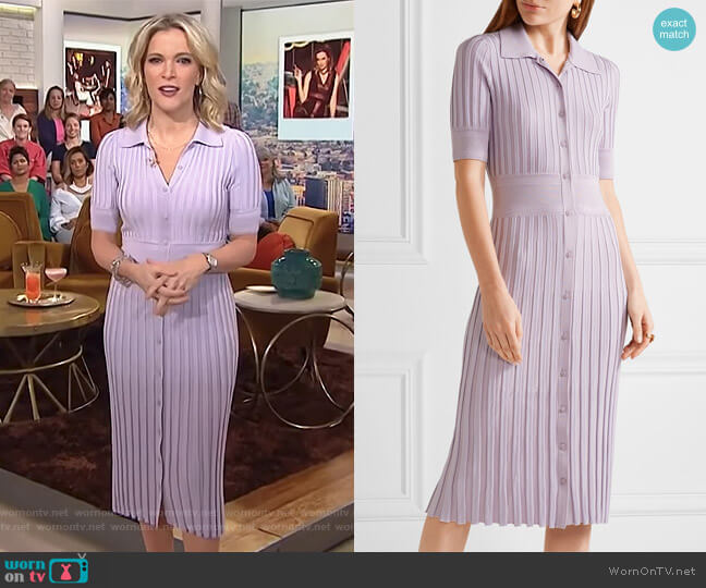 Olivia ribbed stretch-knit dress by Altuzarra worn by Megyn Kelly  on Today