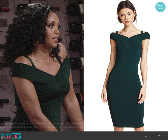 Bailey 44 Babies Breath Dress worn by Hilary Curtis (Mishael Morgan) on The Young & the Restless