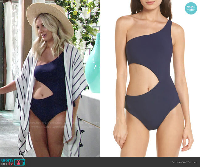 BCA Better Than Ever Cutout One-Piece Swimsuit worn by Melissa Ordway on The Young & the Restless