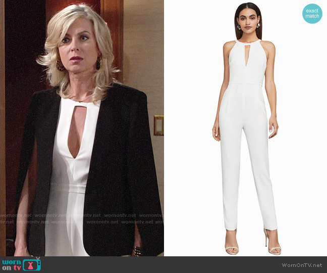 Bcbgmaxazria Hailee Jumpsuit worn by Ashley Abbott (Eileen Davidson) on The Young & the Restless
