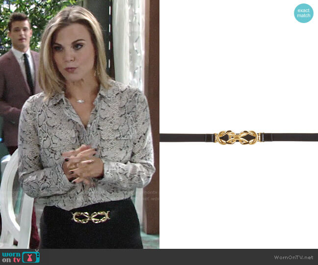 Bcbgmaxazria Knot Waist Belt worn by Phyllis Newman (Gina Tognoni) on The Young & the Restless