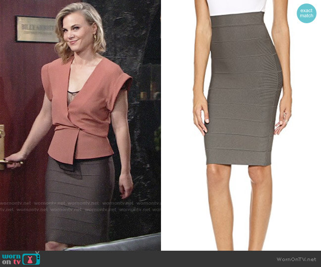 Bcbgmaxazria Leger Skirt worn by Phyllis Newman (Gina Tognoni) on The Young & the Restless