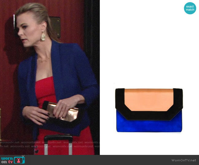Bcbgmaxazria Piper Clutch worn by Gina Tognoni on The Young & the Restless