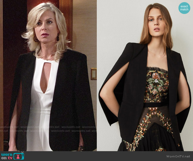Bcbgmaxazria Upas Cape worn by Ashley Abbott (Eileen Davidson) on The Young & the Restless