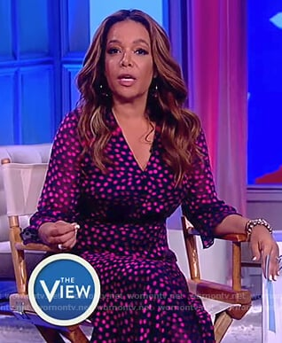 Sunny's polka dot print dress on The View