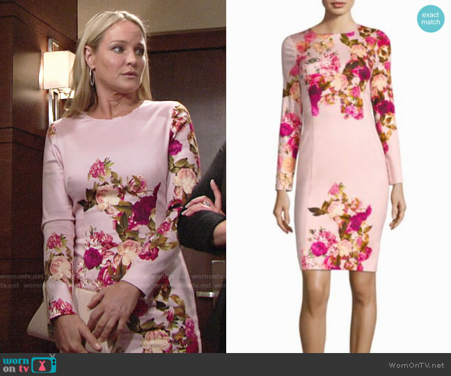 Black Halo Lively Dress in Rosabella worn by Sharon Case on The Young & the Restless