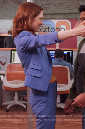 Kimmy's blue suit on Unbreakable Kimmy Schmidt